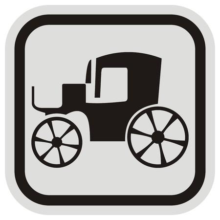 stagecoach, frame Vector