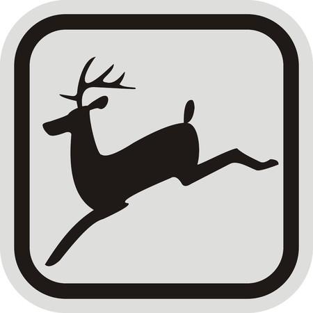 ruminant: deer, frame Illustration