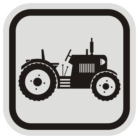 tillage: tractor, marco Vectores