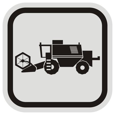 tillage: cosechadora, marco Vectores