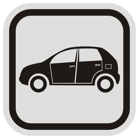 black car, frame Illustration