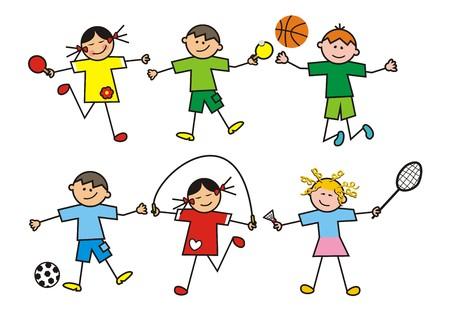 Les enfants, sport Banque d'images - 35261837