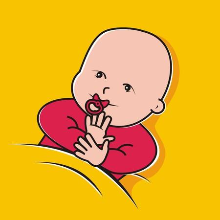 toddler, girl Illustration