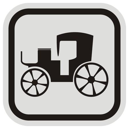 buggy, frame Vector