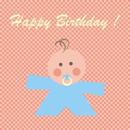 nursling: Happy Birthday, baby boy Illustration