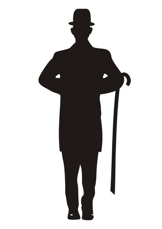 man, black silhouette