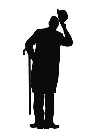 man, silhouette Vector