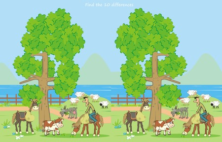 farm, find ten differences