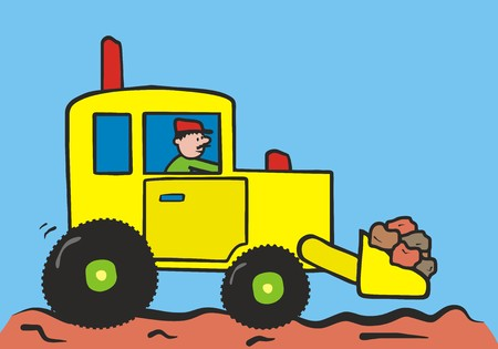 dredger: digger Illustration