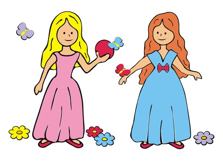 wench: Two princesses Illustration