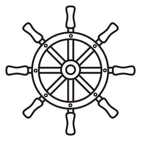 rudder: rudder, coloring book Illustration