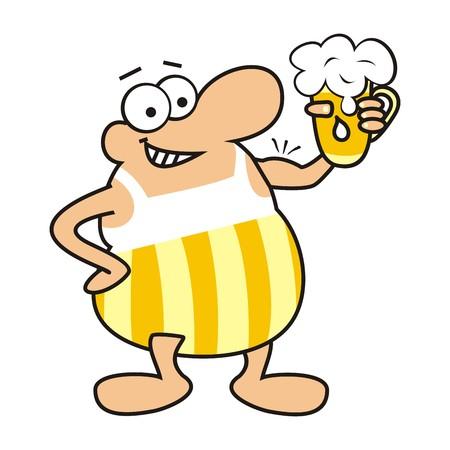 cartoon figure: man and beer, mascot