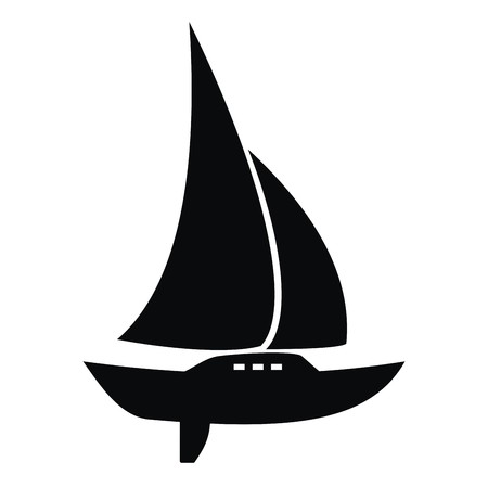 keel: sail with keel, icon