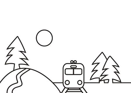 railcar: train and landscape
