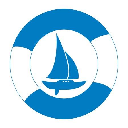 buoy: Sailboat and life buoy
