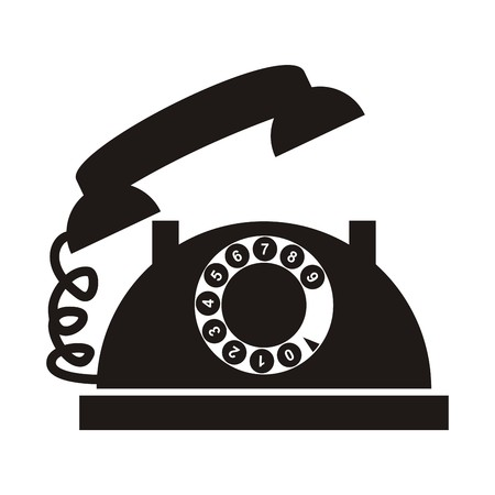 Telephone with dial Vector