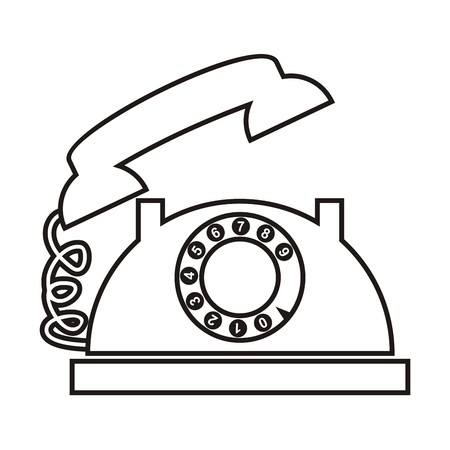 contour: Telephone, contour Illustration