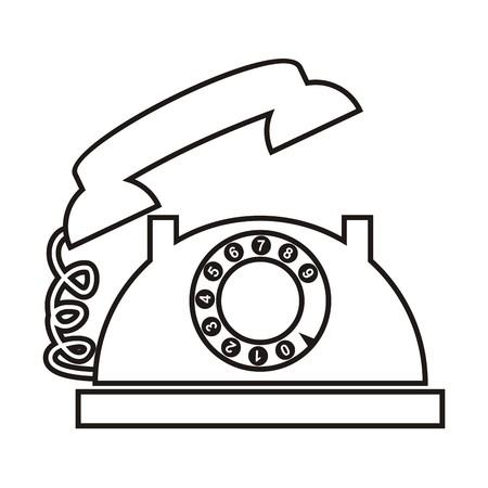 telephone: Telephone, contour Illustration