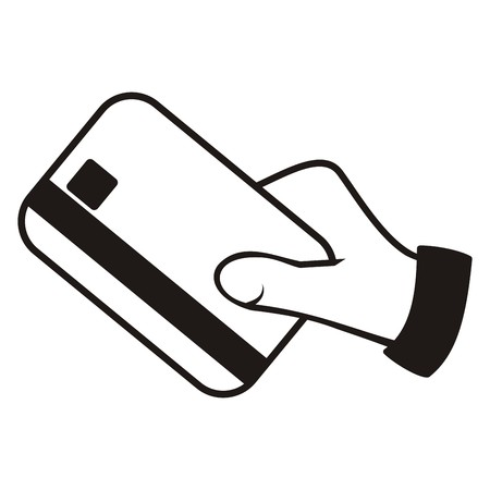 hand and credit card Vector