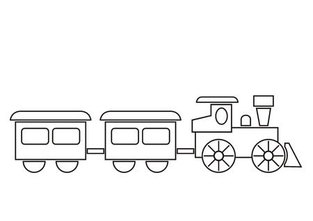 train, coloring book Vector