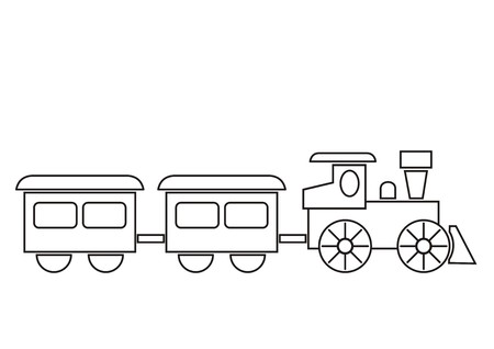 locomotive: tren, libro para colorear