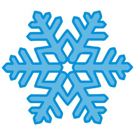 snowflake, black contour