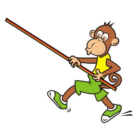 sportsman: monkey, sportsman