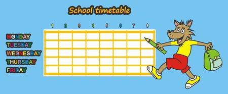 cronograma: calendario, lobo