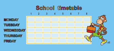 ape: timetable, ape Illustration