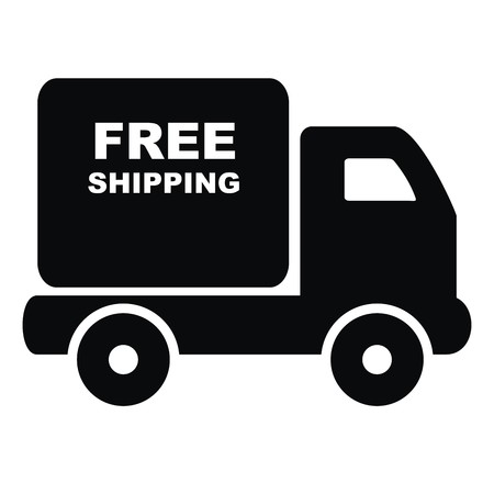 truck free shipping Vector
