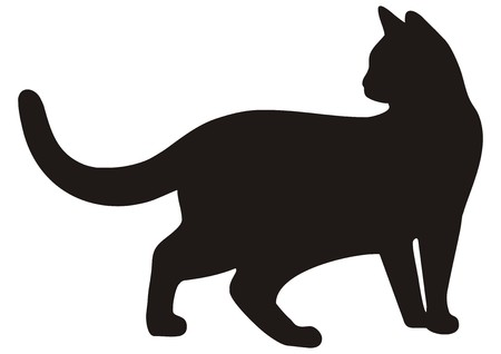 silhouettes animals: gato