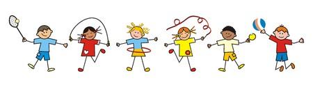 kinderen sport Stock Illustratie