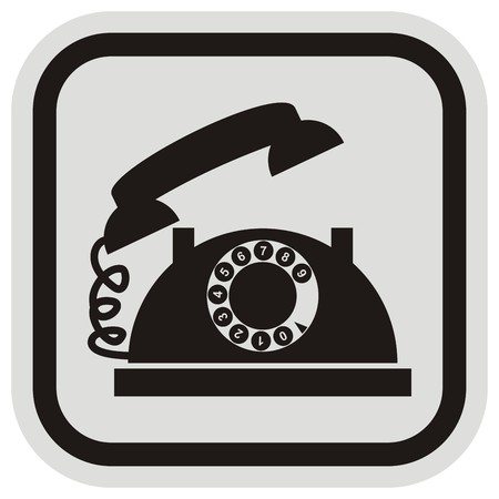 antiquated: phone frame Illustration