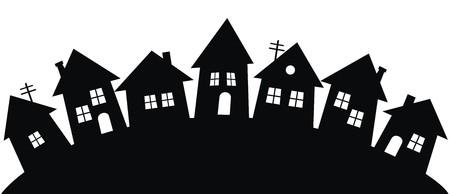 building lot: dorp Illustration