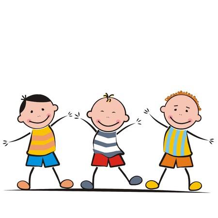 frisk: Happy kids Illustration