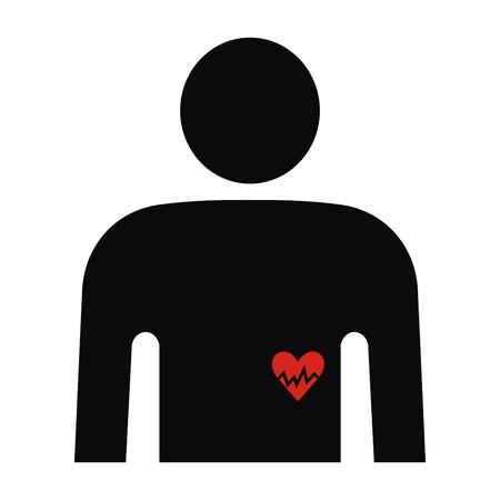 infarctus: C?ur Illustration