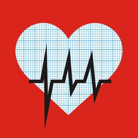 hospice: heart and graph Illustration