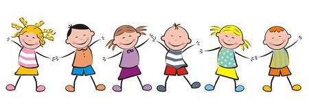 frisk: dancing kids Illustration