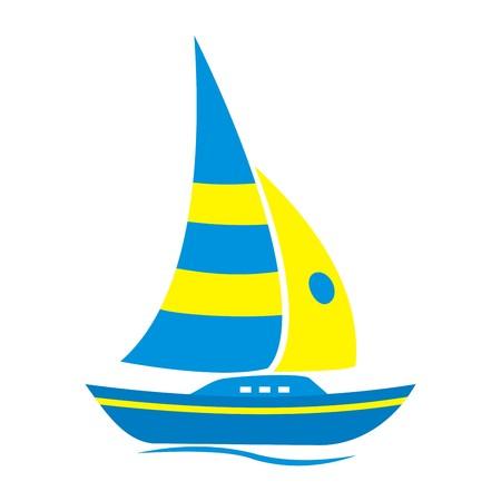 rowboat: Sailboard Illustration