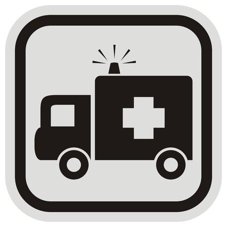 hospice: ambulance, frame Illustration