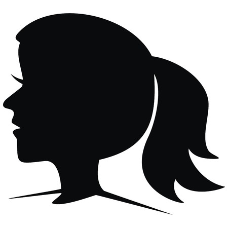 damsel: girl, silhouette Illustration
