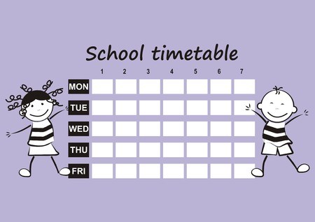 timetable: school timetable
