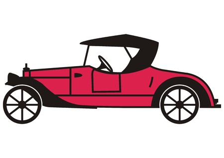 roadster: roadster veteran icon Illustration