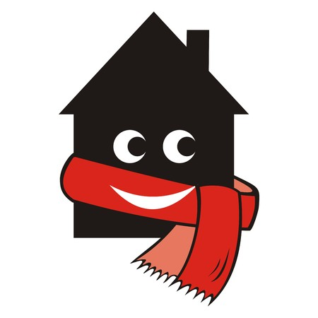 house and scarf Illustration