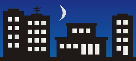 housing estate: housing estate Illustration