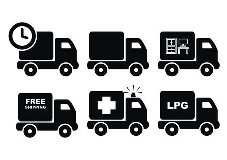 lpg: Trucks in Black icon
