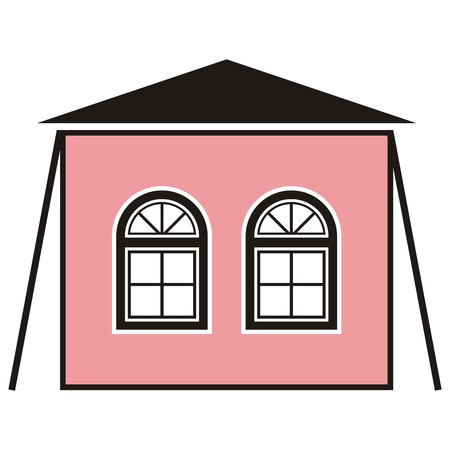 vac: summer house, tent, vector icon