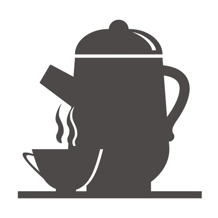 tearoom: teapot and cup Illustration
