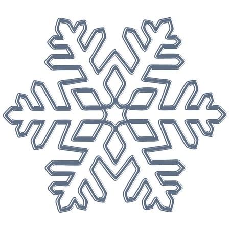 contour: snowflake, blue contour