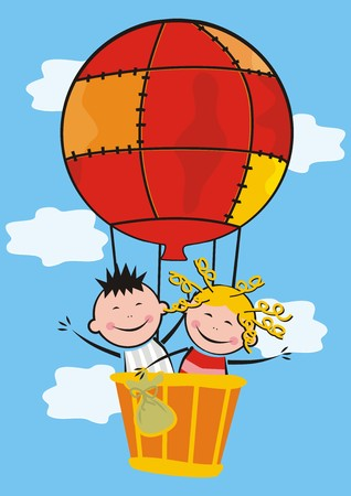 vac: kids and balloon